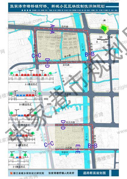 张家港市塘桥镇何桥,新城小区地块块控制性详细规划公示